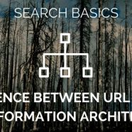 Search basics: the difference between URL structure and Information Architecture